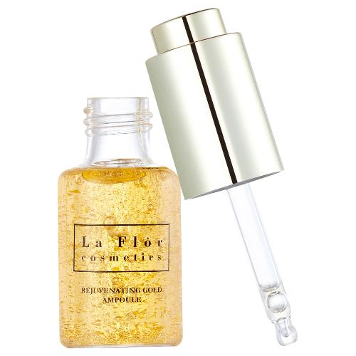 La Flor Cosmetics Pearl Luminous Brightening Mask & Rejuvenating Gold Ampoule - 5 Mask Sheets + 1 Vial of Ampoule