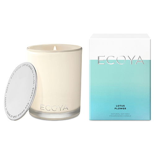 Ecoya Madison Jar Fragranced Candle - Lotus Flower  by Ecoya