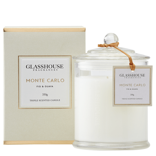 Glasshouse Monte Carlo Candle - Fig & Guava 350g