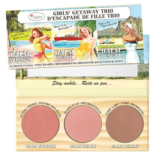 theBalm Girls Getaway Trio Long-Wearing Bronzer Blush