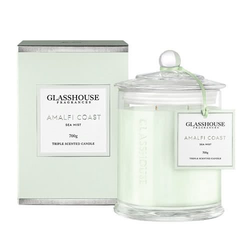 Glasshouse Amalfi Coast Candle - Sea Mist 700g by Glasshouse Fragrances