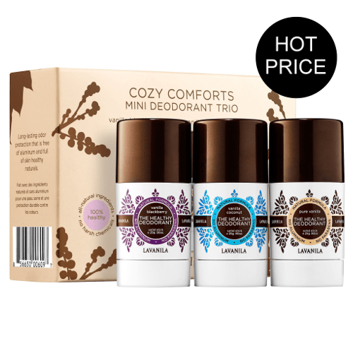 Lavanila Cozy Comforts Mini Deo Trio - Blackberry, Vanilla & Coconut  by Lavanila