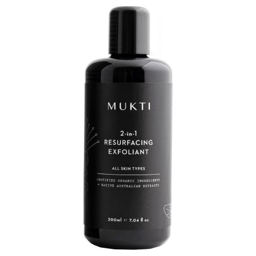 Mukti Organics 2-in-1 Resurfacing Exfoliant 200ml by Mukti Organics