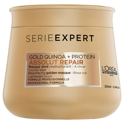L'Oreal Serie Expert Absolut Repair Gold Quinoa & Protein Golden Masque Lightweight 250ml by L'Oreal Professionnel