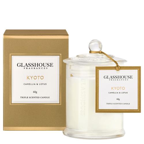 Glasshouse Kyoto Mini Candle - Camellia & Lotus 60g by Glasshouse Fragrances