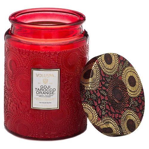 Voluspa Goji Tarocco Orange Jar Candle by Voluspa