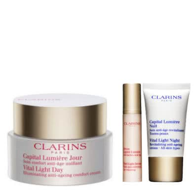 Clarins Vital Light Day Cream - All Skin Types - With Your Gifts