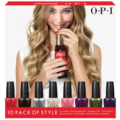 OPI Coca-Cola 10 Pack Of Style - Mini Nail Polish Set  by OPI