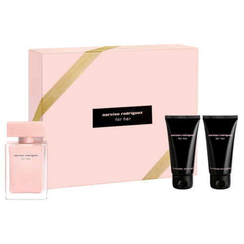 Narciso Rodriguez For her Christmas Set (50ml EDP, Body Lotion, Shower Gel) by narciso rodriguez