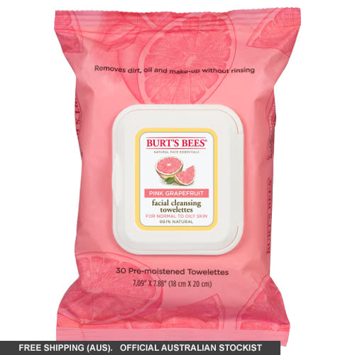 Burt's Bees Pink Grapefruit Facial Cleansing Towelettes by Burts Bees