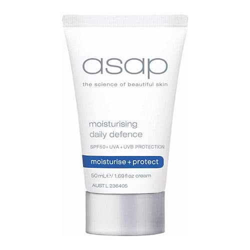 asap moisturising daily defence SPF 50 - 50ml  by asap