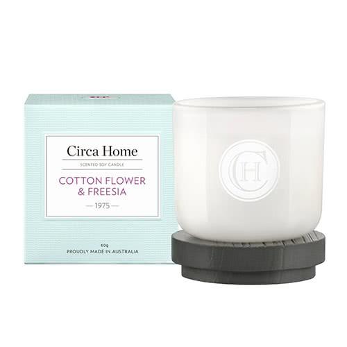 Circa Home Cotton Flower & Freesia Miniature Candle 60g