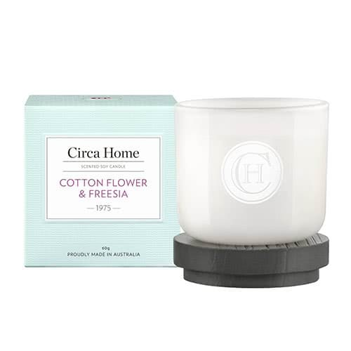Circa Home Cotton Flower & Freesia Miniature Candle 60g by Circa Home Candles & Diffusers