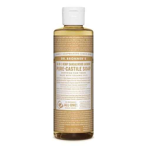 Dr. Bronner Castile Liquid Soap - Sandalwood & Jasmine 237ml