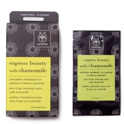 APIVITA Express Beauty with Chamomile Wipes by APIVITA