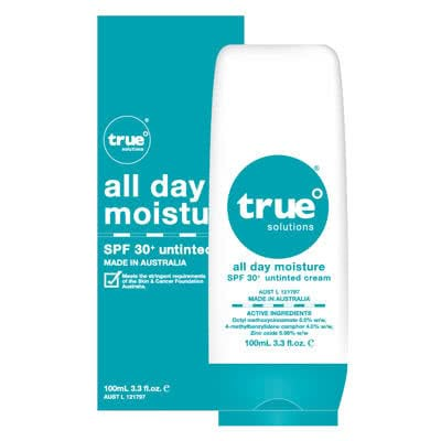 True Solutions All Day Moisture SPF30+ Untinted 100ml by True Solutions