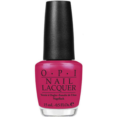 OPI Nail Lacquers - Texas Lone Star Collection, Too Hot Pink To Hold Em by OPI color Too Hot Pink To Hold Em: red-hot pink-red jelly