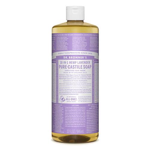Dr. Bronner Castile Liquid Soap - Lavender 946ml