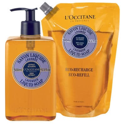 L'Occitane Lavender Liquid Soap Duo