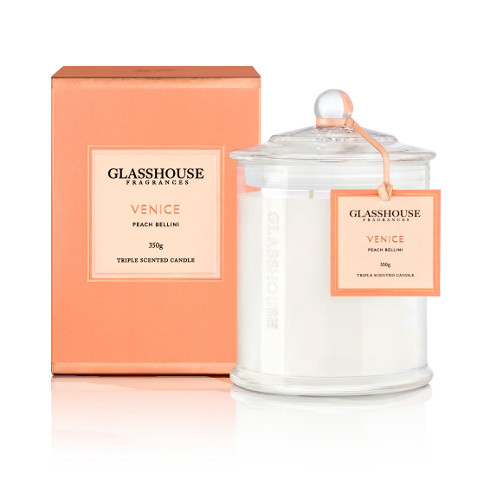 Glasshouse Venice Candle - Peach Bellini 350g by Glasshouse Fragrances