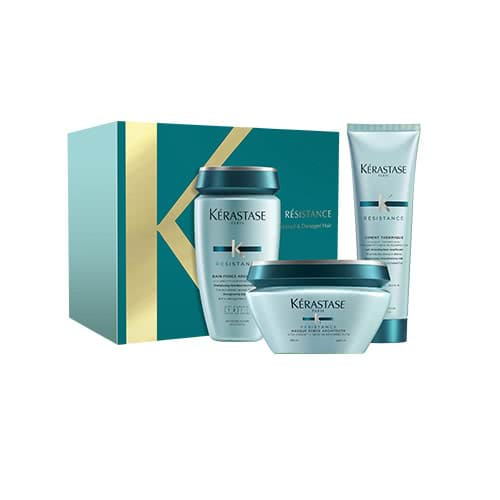 Kérastase Resistance Christmas Coffret – for Damaged Hair by Kerastase