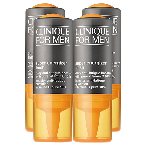 Clinique For Men Super Energizer Fresh Daily Anti-Fatigue Booster with Pure Vitamin C 10% - 4 x vials by Clinique