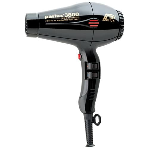 Parlux 3800 Ceramic/Ionic Hairdryer - Black by Parlux color Black