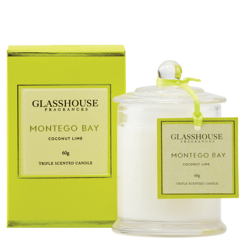 Glasshouse Montego Bay Mini Candle - Coconut Lime 60g