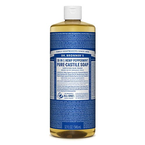 Dr. Bronner Castile Liquid Soap - Peppermint 946ml by Dr Bronner-s