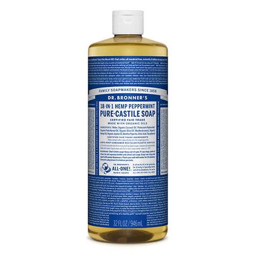 Dr. Bronner Castile Liquid Soap - Peppermint 946ml
