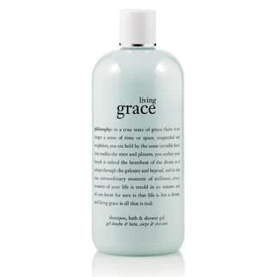philosophy living grace shampoo, bath and shower gel
