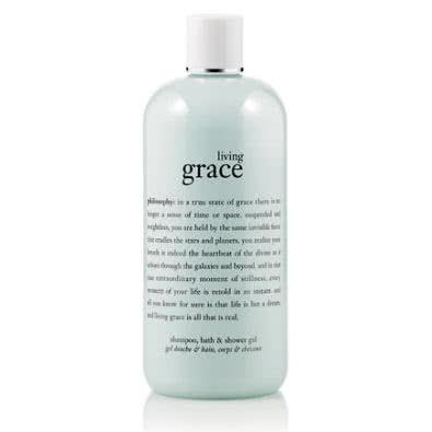 philosophy living grace shampoo, bath and shower gel