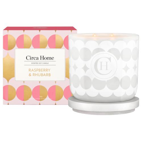 Circa Home Raspberry & Rhubarb 260g Candle by Circa Home