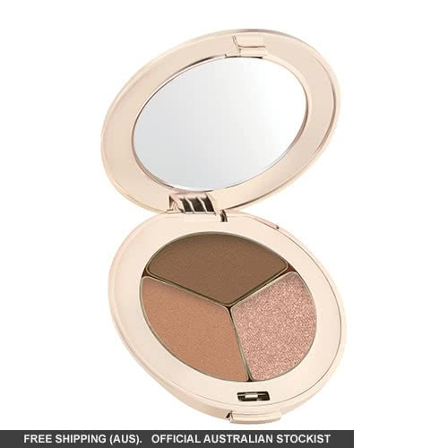 Jane Iredale PurePressed Eye Shadows: Triple - Triple Cognac: part shimmer by jane iredale color Triple Cognac: part shimmer