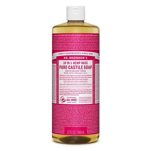 Dr. Bronner Castile Liquid Soap - Rose 946ml