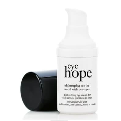 philosophy eye hope multitasking eye cream for dark circles, puffiness & lines