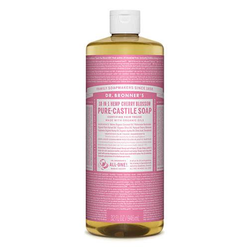 Dr. Bronner Castile Liquid Soap - Cherry Blossom 946ml by Dr Bronner-s