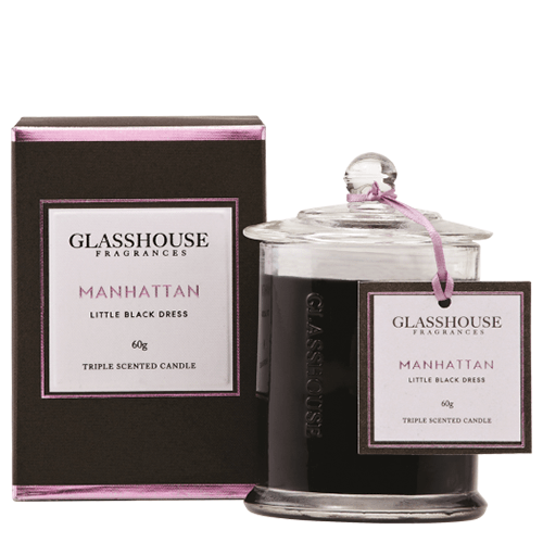 Glasshouse Manhattan Mini Candle - Little Black Dress 60g