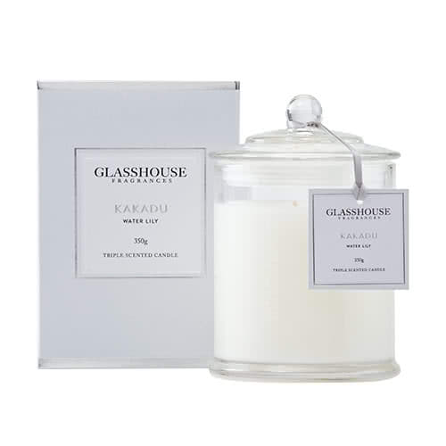 Glasshouse Kakadu Candle - Water Lily 350g by Glasshouse Fragrances