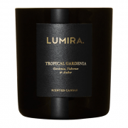 Lumira Glass Candle – Tropical Gardenia