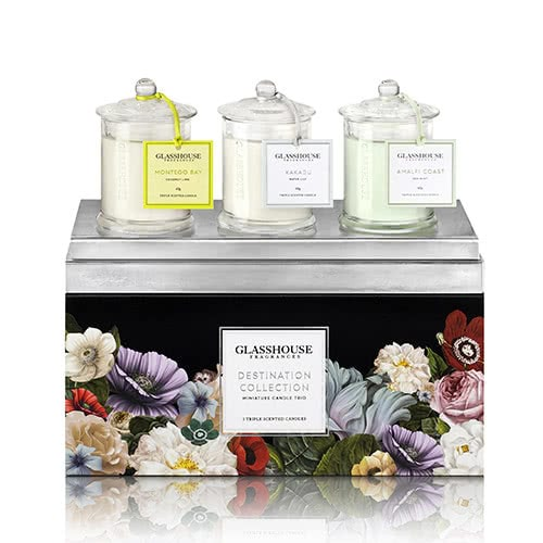 Glasshouse Destination Trio - Miniature Candle Collection by Glasshouse Fragrances