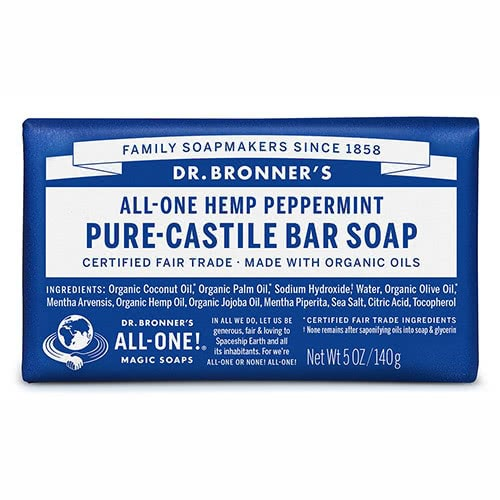 Dr. Bronner Castile Bar Soap - Peppermint by Dr Bronner-s