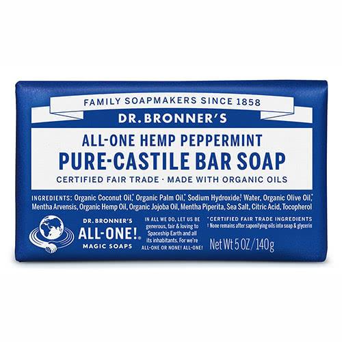 Dr. Bronner Castile Bar Soap - Peppermint