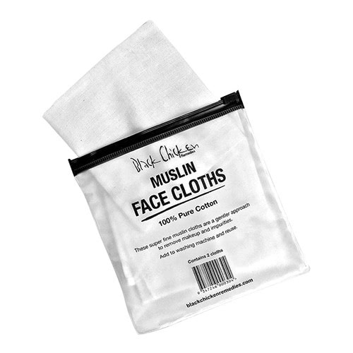 Black Chicken Remedies Muslin Face Cloth – 2 Pack
