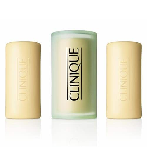 Clinique 3 Little Soaps with Travel Dish - Oily by Clinique color Oily