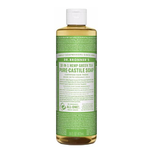 Dr. Bronner Castile Liquid Soap - Green Tea 473ml by Dr. Bronner's