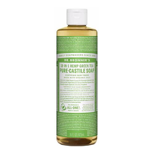 Dr. Bronner Castile Liquid Soap - Green Tea 473ml