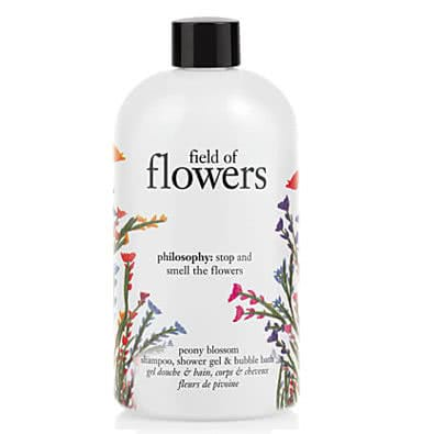 philosophy field of flowers peony blossom shampoo,  shower gel & bubble bath