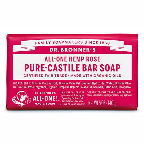 Dr. Bronner Castile Bar Soap - Rose