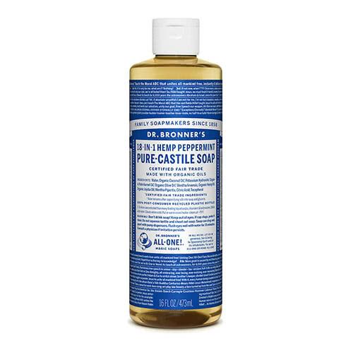 Dr. Bronner Castile Liquid Soap - Peppermint 473ml